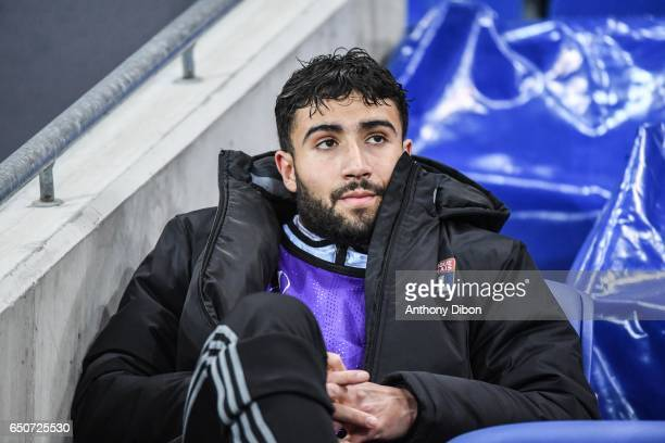 Nabil Fekir of Lyon during the Uefa Europa League Round of 16 first leg match between Olympique Lyonnais Lyon and As Roma at Stade des Lumieres on...
