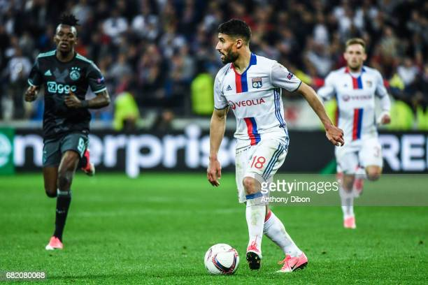 Nabil Fekir of Lyon during the Uefa Europa League semi final second leg match between Olympique Lyonnais Lyon and Ajax Amsterdam at Parc Olympique on...