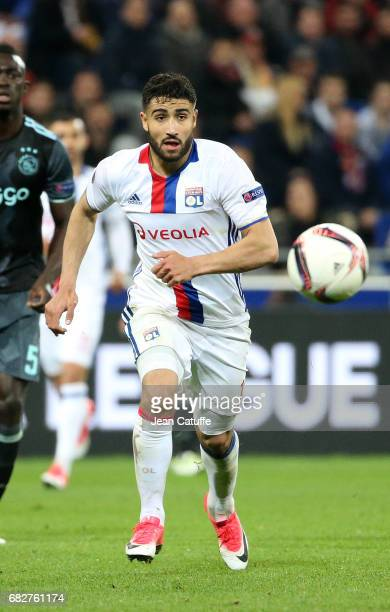 Nabil Fekir of Lyon during the UEFA Europa League semi final second leg match between Olympique Lyonnais and Ajax Amsterdam at Parc OL on May 11 2017...