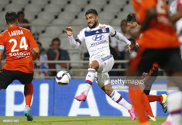 Nabil Fekir of Lyon in action during the French Ligue 1 match between Olympique Lyonnais and FC Lorient at Stade de Gerland on August 9 2015 in Lyon...