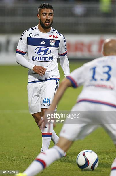 Nabil Fekir of Lyon in action during the friendly match between Olympique Lyonnais and AC Milan at Stade de Gerland on July 18 2015 in Lyon France