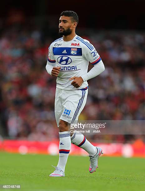 Nabil Fekir of Olympique Lyonnais during the Emirates Cup match between Arsenal and Olympique Lyonnais at Emirates Stadium on July 25 2015 in London...