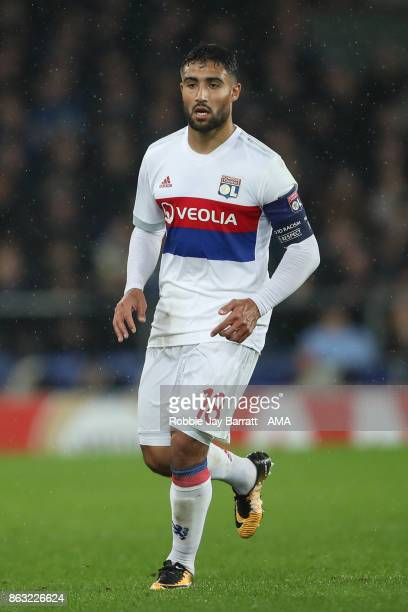 Nabil Fekir of Olympique Lyonnais during the UEFA Europa League group E match between Everton FC and Olympique Lyon at Goodison Park on October 19...