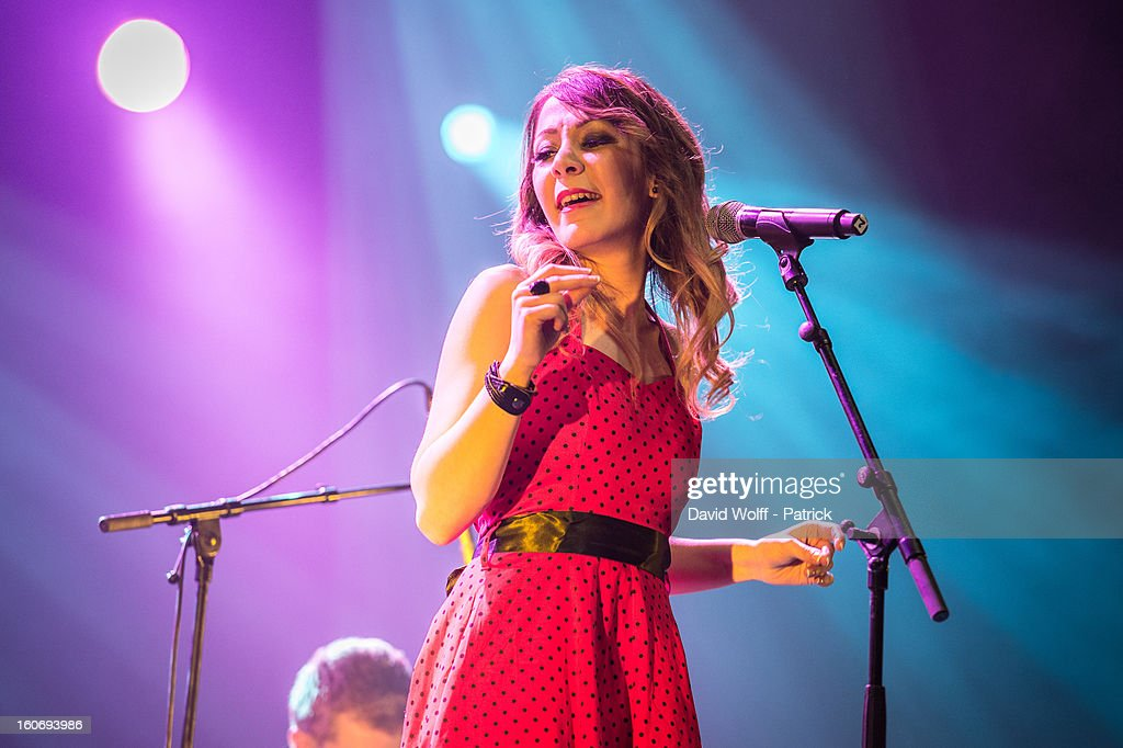 Nabila Dali opens for Idir at L'Olympia on February 4, 2013 in Paris, France.