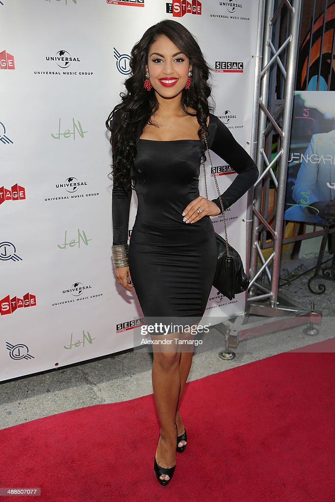 Nabila Tapia arrives at the Jencarlos Canela private concert to present his new album 'Jen' at The Stage on May 6, 2014 in Miami, Florida.