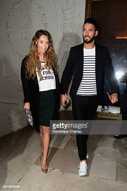 Nabilla Benattia and Thomas Vergara attend at the Jean Paul Gaultier show as part of Paris Fashion Week Haute Couture Fall/Winter 20142015 at 325 Rue...