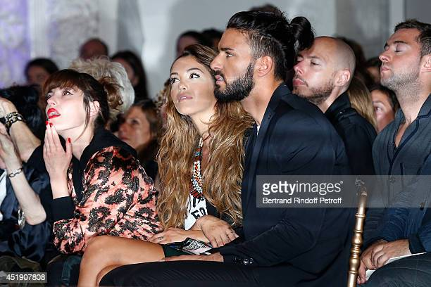 Nabilla Benattia and Thomas Vergara attend the Jean Paul Gaultier show as part of Paris Fashion Week Haute Couture Fall/Winter 20142015 Held at 325...
