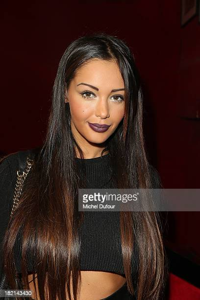 Nabilla Benattia attends Jean Paul Gaultier show as part of the Paris Fashion Week Womenswear Spring/Summer 2014 on September 28 2013 in Paris France