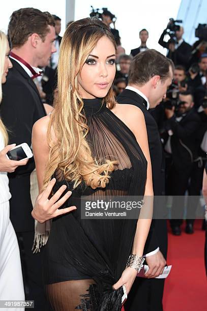Nabilla Benattia attends 'The Homesman' Premiere at the 67th Annual Cannes Film Festival on May 18 2014 in Cannes France