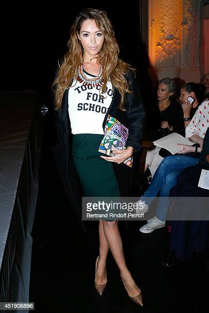 Nabilla Benattia attends the Jean Paul Gaultier show as part of Paris Fashion Week Haute Couture Fall/Winter 20142015 Held at 325 Rue Saint Martin on...
