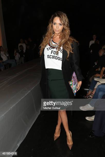 Nabilla Benattia attends the Jean Paul Gaultier show as part of Paris Fashion Week Haute Couture Fall/Winter 20142015 at 325 Rue Saint Martin on July...