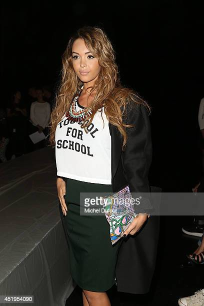 Nabilla Benattia attends the Jean Paul Gaultier show as part of Paris Fashion Week Haute Couture Fall/Winter 20142015 at 325 Rue Saint Martin on July...
