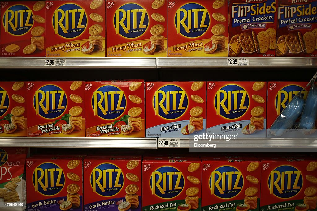 Nabisco Holdings Corp. Ritz crackers are displayed for sale at a Publix Super Markets Inc. grocery store in Knoxville, Tennessee, U.S., on Wednesday, March 5, 2014. Publix's sales for the fourth quarter of 2013, were $7.4billion, a 5.3 percent increase from last year's $7.0 billion. Photographer: Luke Sharrett/Bloomberg via Getty Images