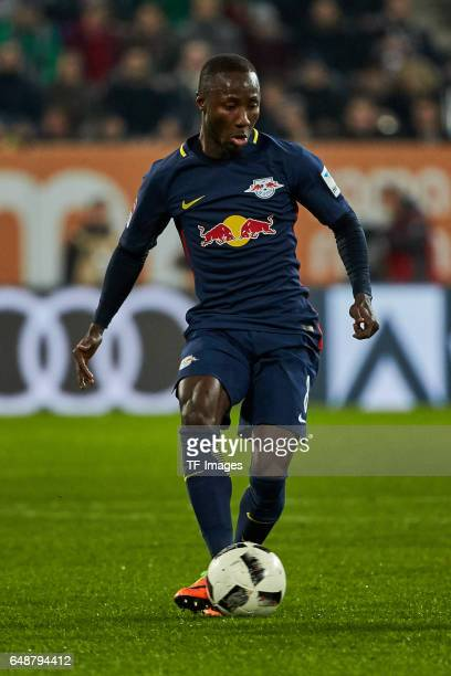 Naby Keita of Leipzig controls the ball during the Bundesliga match between FC Augsburg and RB Leipzig at WWK Arena on March 3 2017 in Augsburg...