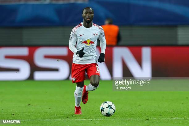 Naby Keita of Leipzig controls the ball during the UEFA Champions League group G soccer match between RB Leipzig and Besiktas at the Leipzig Arena in...