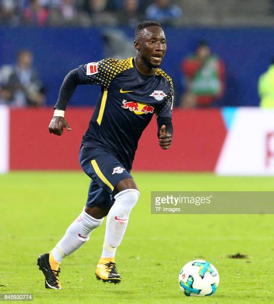 Naby Keita of Leipzig in action during the Bundesliga match between Hamburger SV and RB Leipzig at Volksparkstadion on September 8 2017 in Hamburg...
