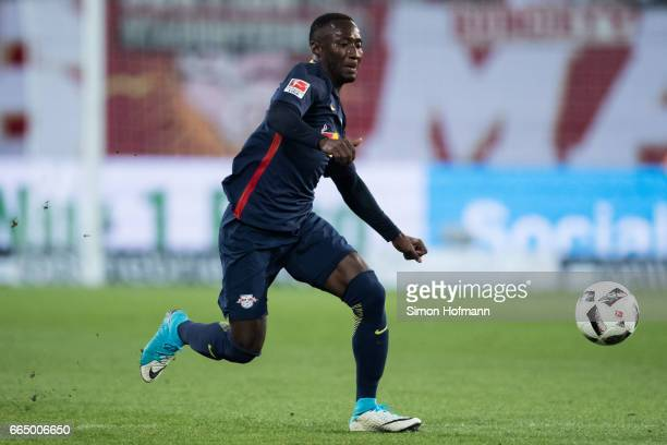 Naby Keita of Leipzig runs with the ball during the Bundesliga match between 1 FSV Mainz 05 and RB Leipzig at Opel Arena on April 5 2017 in Mainz...