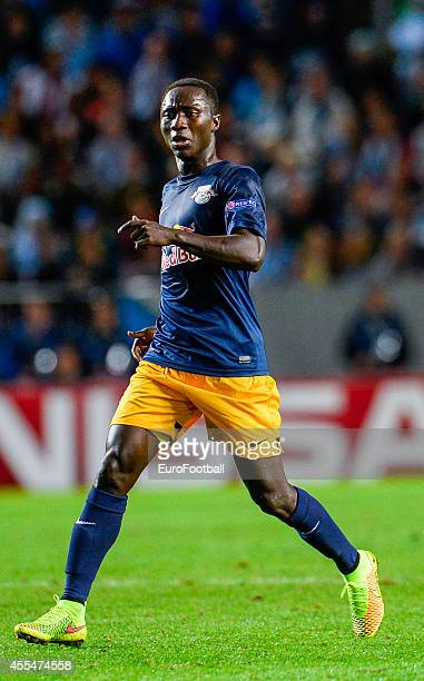 Naby Keita of Red Bull Salzburg in action during the UEFA Champions League playoff second leg football match between Malmo FF and FC Salzburg at the...