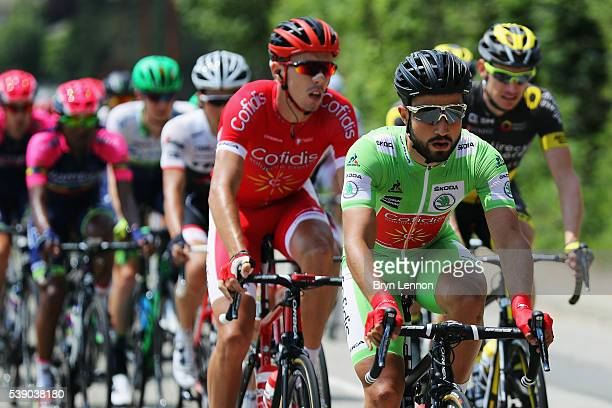 Nacer Bouhanni of France and Cofidis rides in the peloton on stage four of the 2016 Criterium du Dauphine a 176km stage from Tainl'Hermitage to...