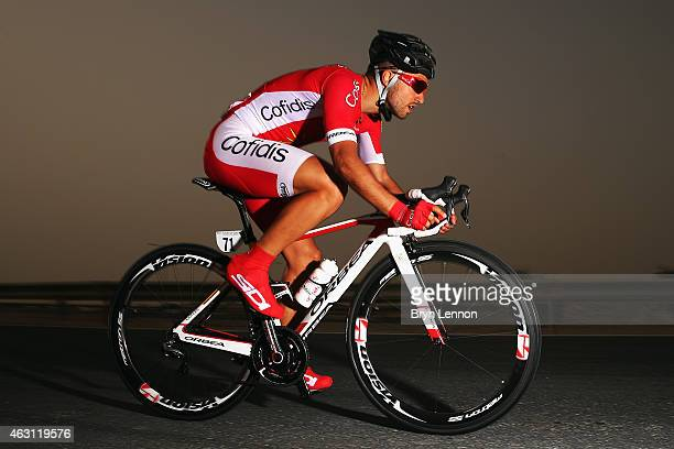 Nacer Bouhanni of France and Cofidis Solutions Credit in action on stage three of the 2015 Tour of Qatar a 109km individual time trial at the Lusail...