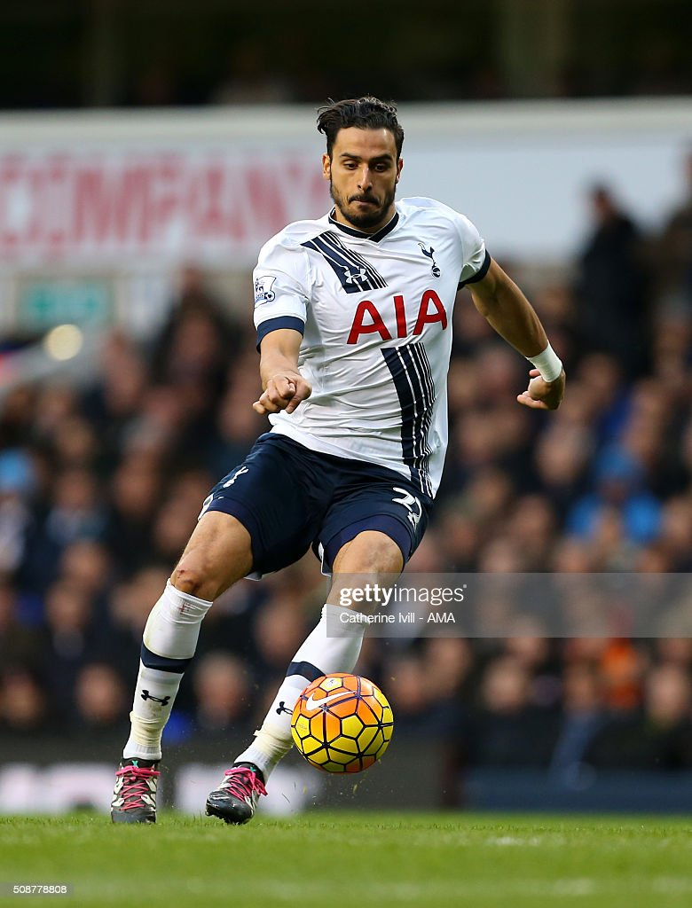 Nacer Chadli of Tottenham Hotspur during the Barclays Premier League match between Tottenham Hotspur and Watford at White Hart Lane on February 6, 2016 in London, England.