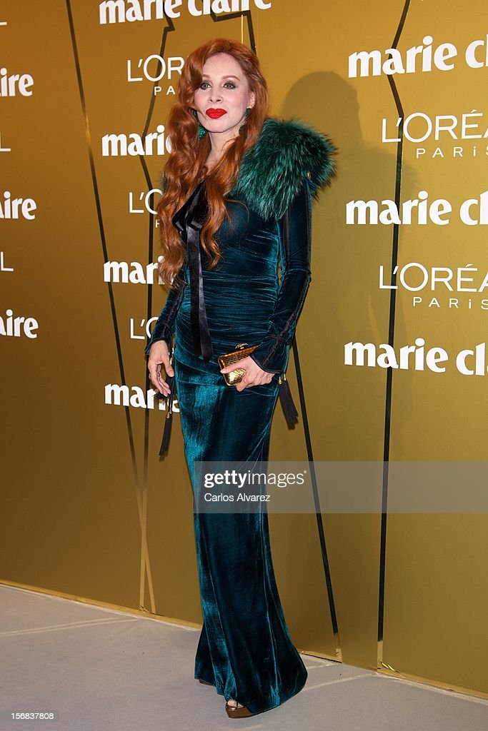 Nacha Guevara attends Marie Claire Prix de la Moda Awards 2012 at the French Embassy on November 22, 2012 in Madrid, Spain.