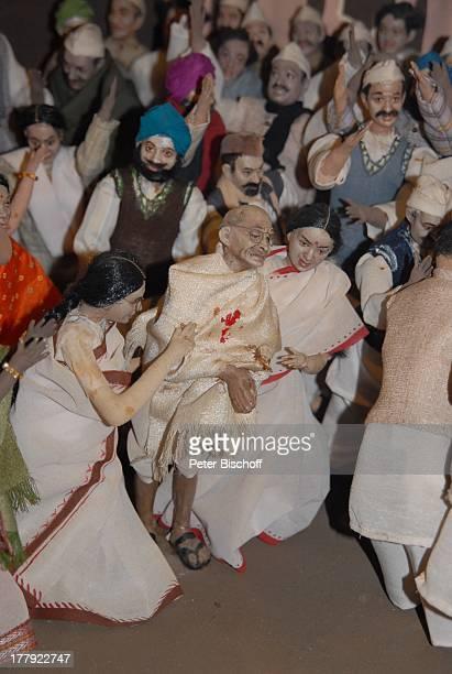 Nachgestellter geschichtlicher Verlauf der Unanbhängigkeitsbewegung von Gandhi 'Gandhi'Museum Mumbai/Bombay Maharashtra Indien Asien Attentat auf...