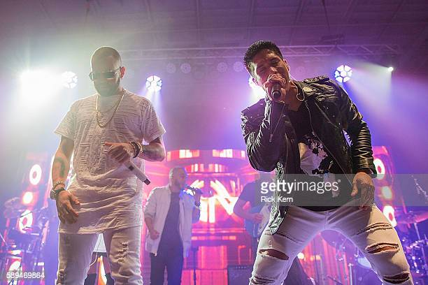 Nacho and Chino of Chino y Nacho take the stage at the Bud Light Party Convention in Houston August 13 2016 Bud Light America's most popular and...