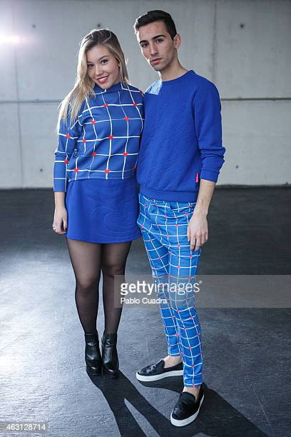 Nacho and Maria wear Agatha Ruiz de la Prada clothes during Mercedes Benz Madrid Fashion Week Fall/Winter 2015/16 at Ifema on February 10 2015 in...
