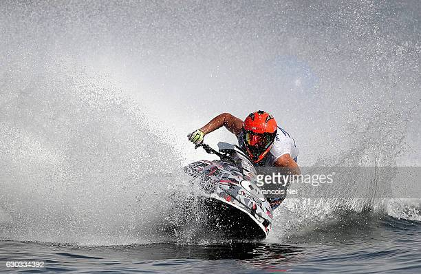 Nacho Armillas of Spain practice during the Aquabike Class Pro Circuit World Championships Grand Prix of Sharjah at Khalid Lagoon on December 21 2016...