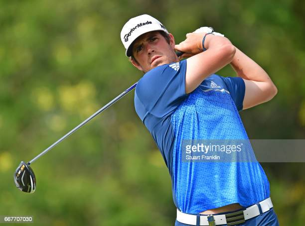 Nacho Elvira of Spain plays a shot during the pro am prior to the Trophee Hassan II at Royal Golf Dar Es Salam on April 12 2017 in Rabat Morocco