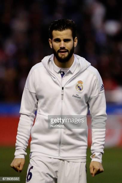 Nacho Fernandez defender of Real Madridd during the La Liga Santander match between Deportivo de La Corua and Real Madrid at Riazor Stadium on April...