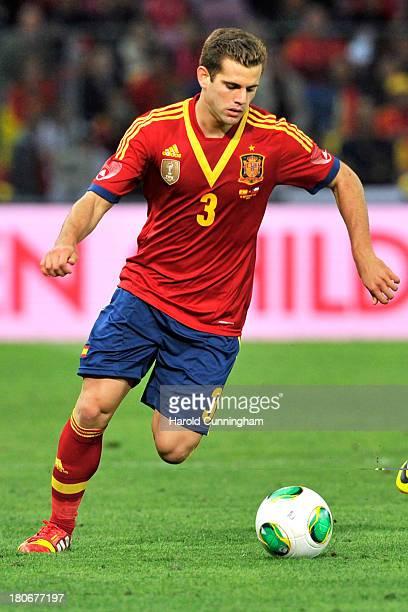 Nacho Fernandez in action during the Spain v Chile international friendly at Stade de Geneve on September 10 2013 in Geneva Switzerland
