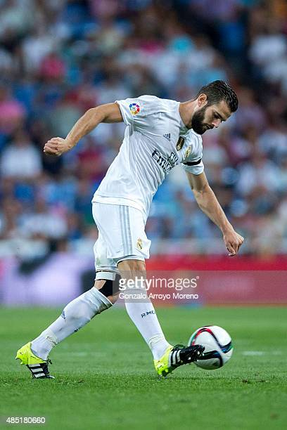 Nacho Fernandez of Real Madrid CF controls the ball during the Santiago Bernabeu Trophy match between Real Madrid CF and Galatasaray at Estadio...