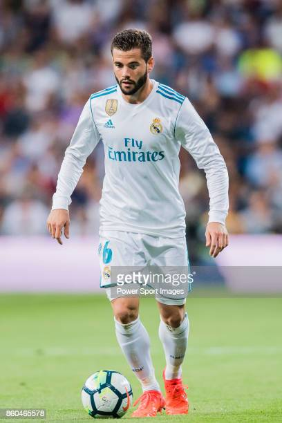 Nacho Fernandez of Real Madrid in action during the La Liga 201718 match between Real Madrid and RCD Espanyol at Estadio Santiago Bernabeu on 01...