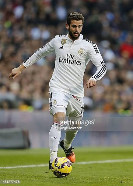 Nacho Fernandez of Real Madrid in action during the La Liga match between Real Madrid and RCD Espanyol at Estadio Santiago Bernabeu on January 10...