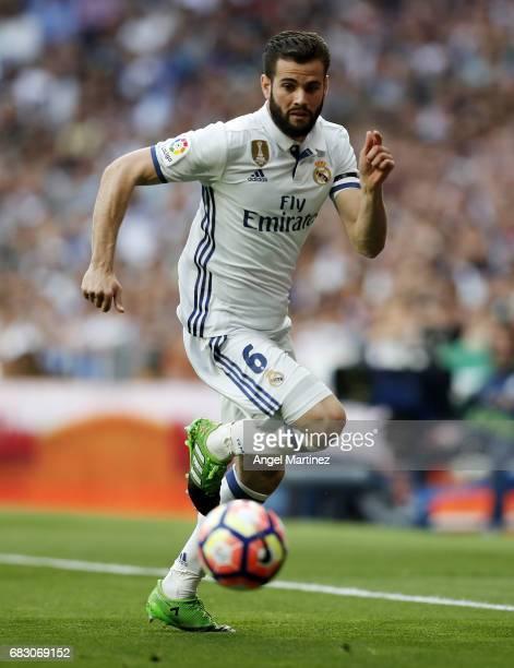 Nacho Fernandez of Real Madrid in action during the La Liga match between Real Madrid and Sevilla FC at Estadio Santiago Bernabeu on May 14 2017 in...