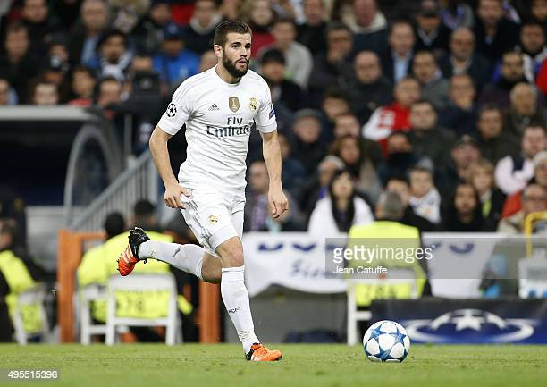 Nacho Fernandez of Real Madrid in action during the UEFA Champions League match between Real Madrid and Paris SaintGermain at Santiago Bernabeu...