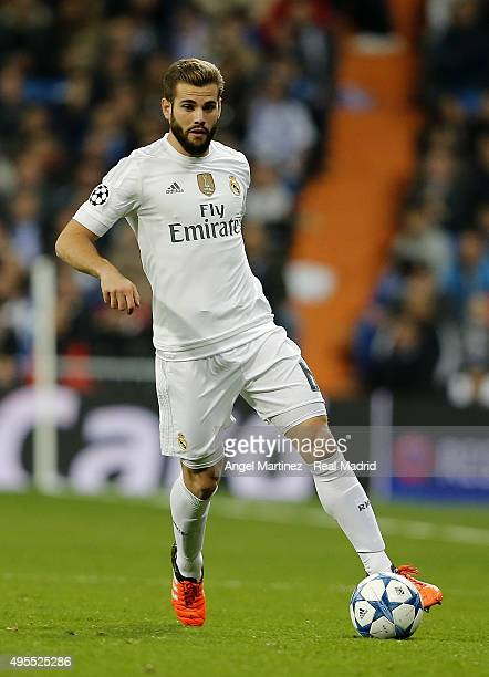 Nacho Fernandez of Real Madrid in action during the UEFA Champions League Group A match between Real Madrid and Paris SaintGermain at Estadio...