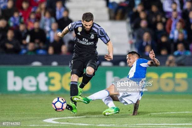 Nacho Fernandez of Real Madrid in action during their La Liga match between Deportivo Leganes and Real Madrid at the Estadio Municipal Butarque on 05...