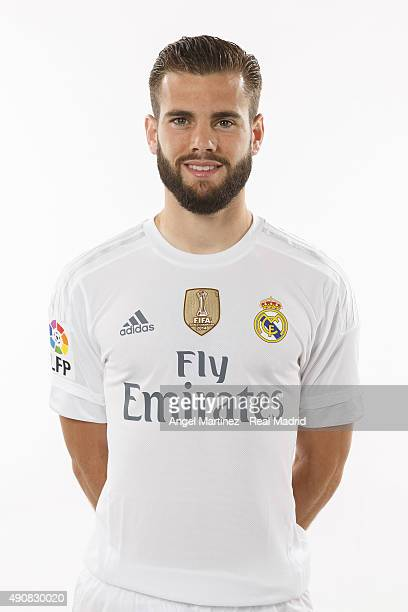 Nacho Fernandez of Real Madrid poses during the official portrait photocall at Valdebebas training ground on September 28 2015 in Madrid Spain