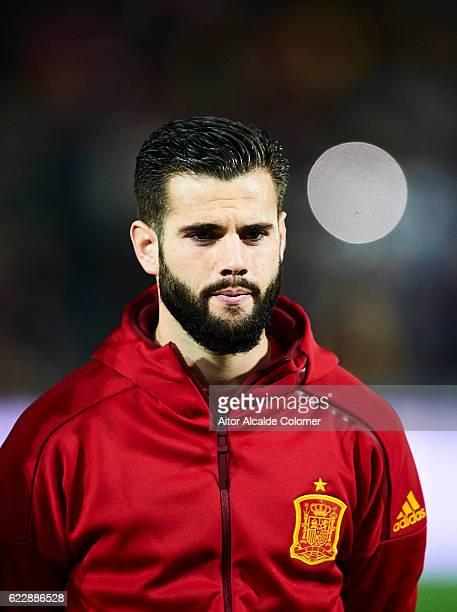 Nacho Fernandez of Spain looks on during the FIFA 2018 World Cup Qualifier between Spain and FYR Macedonia at Estadio Nuevos los Carmenes on November...