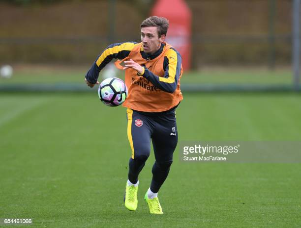 Nacho Monreal of Arsenal during a training session at London Colney on March 17 2017 in St Albans England