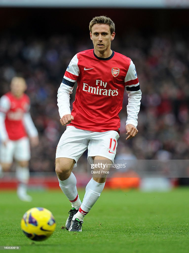 <a gi-track='captionPersonalityLinkClicked' href=/galleries/search?phrase=Nacho+Monreal&family=editorial&specificpeople=4078049 ng-click='$event.stopPropagation()'>Nacho Monreal</a> of Arsenal during the Barclays Premier League match between Arsenal and Stoke City at Emirates Stadium on February 02, 2013 in London, England.