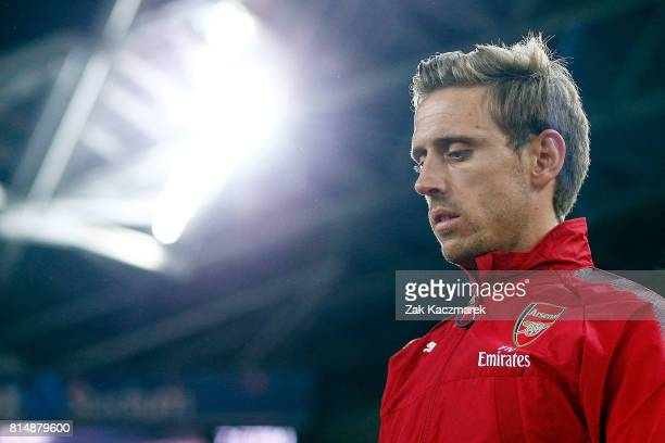 Nacho Monreal of Arsenal takes to the field during the match between the Western Sydney Wanderers and Arsenal FC at ANZ Stadium on July 15 2017 in...