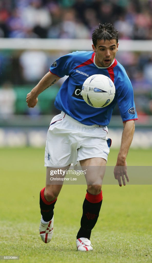 Nacho Novo of Rangers in action during the Bank of Scotland Scottish Premier League match between Hibernian and Rangers at Easter Road Stadium on May 22, 2005 in Edinburgh, Scotland.