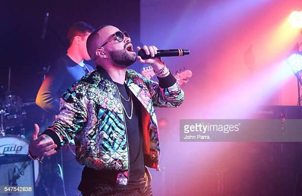 Nacho of Chino Y Nacho performs during McDonald's All Day Breakfast Bash At Premios Juventud After Party Presented By McDonald's on July 14 2016 in...