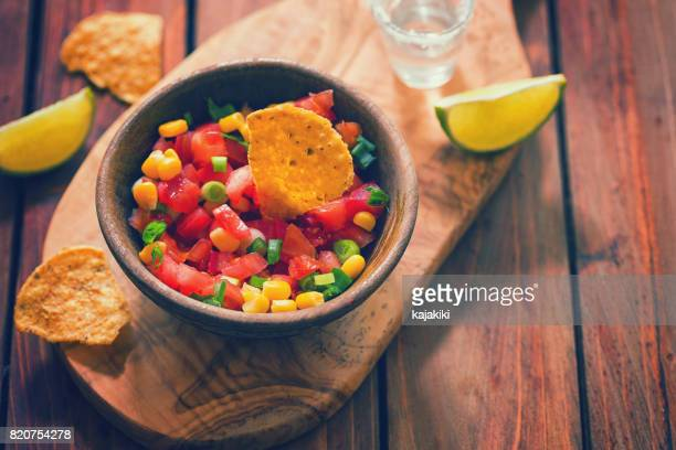 Nachos With Homemade Sauces