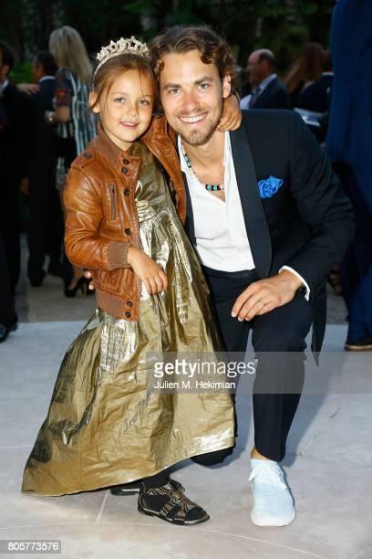 Nachson Mimran and Kevana attends the amfAR Paris Dinner 2017 at Le Petit Palais on July 2 2017 in Paris FranceÊ