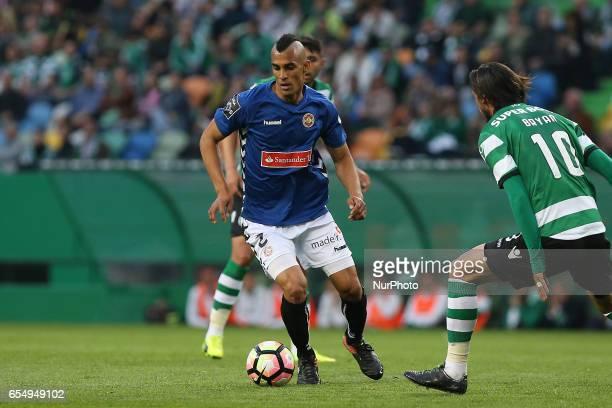 Nacionals defender Victor Garcia from Venezuela during Premier League 2016/17 match between Sporting CP and CD Nacional at Alvalade Stadium in Lisbon...